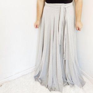 Dresses & Skirts - Handmade Etsy Grey Jersey Full Skirt Tie Waist